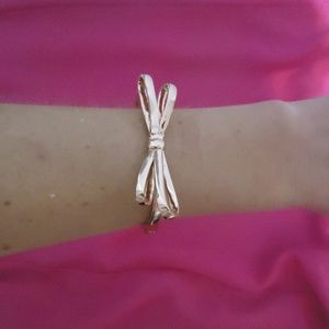 NEW Kate Spade Rose Gold Bow Hinge Bracelet Bangle